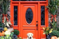 a stylish fall front porch decor