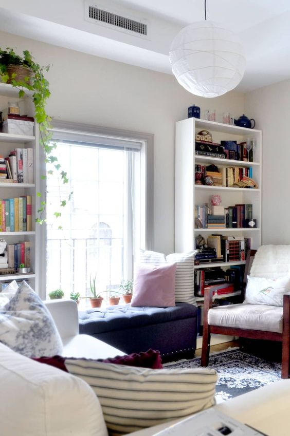 a windowsill bench is always a practical solution to create a cozy nook