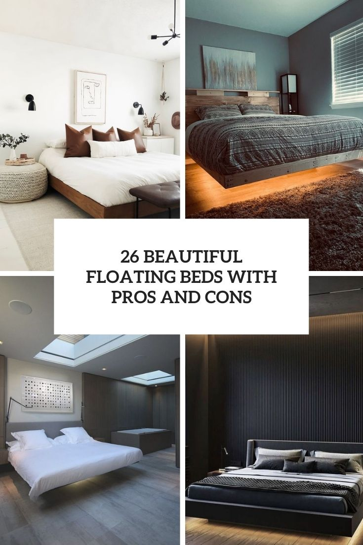 26 Beautiful Floating Beds With Pros And Cons