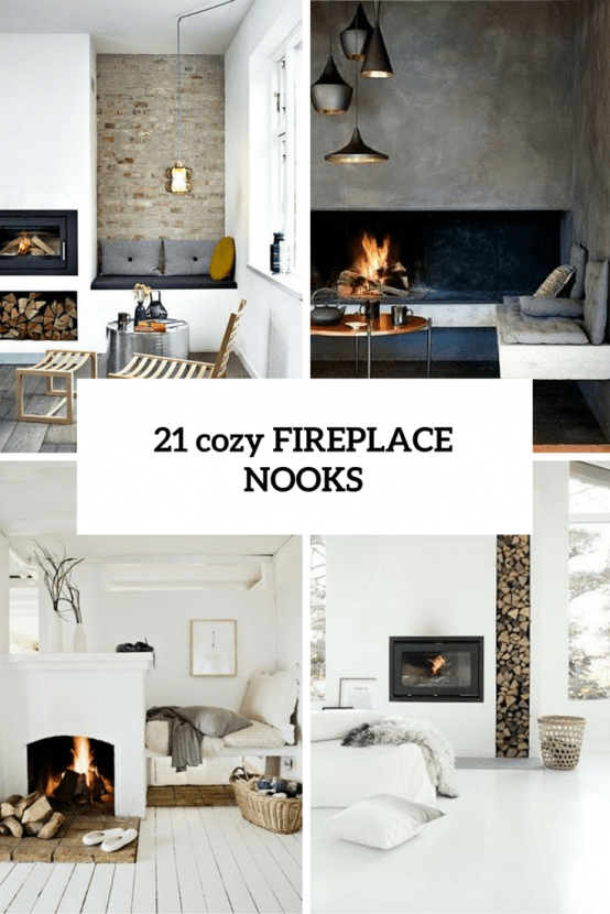 21 Incredibly Cozy And Comfy Fireplace Nooks To Curl In
