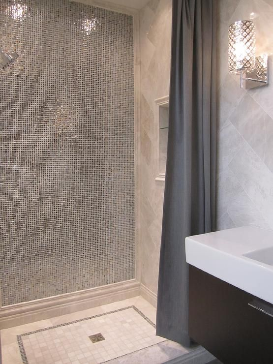 Elegant glass mosaic shower tiles