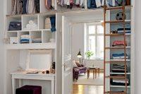 21 open clothes storage above the door