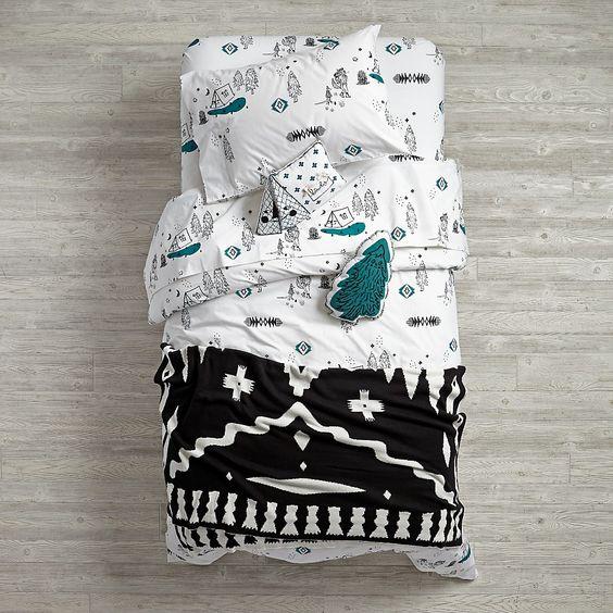 campground print  bedding