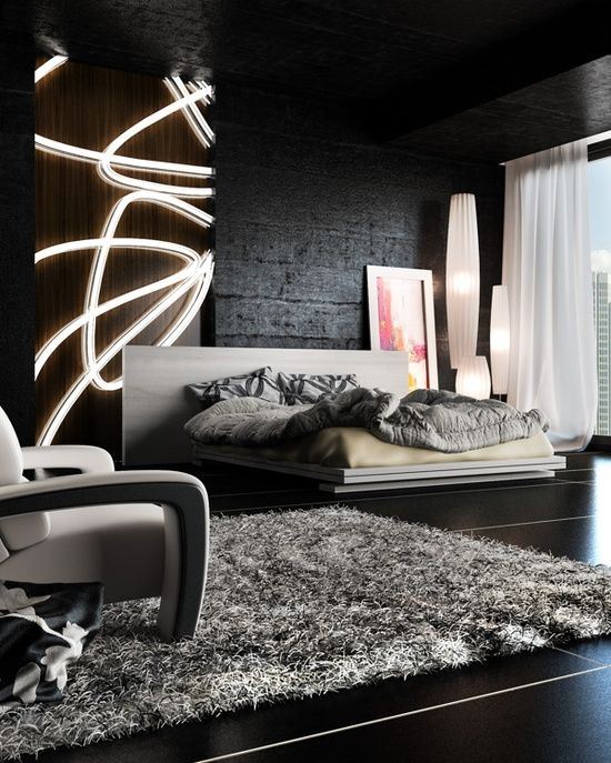 graphic grey bedding