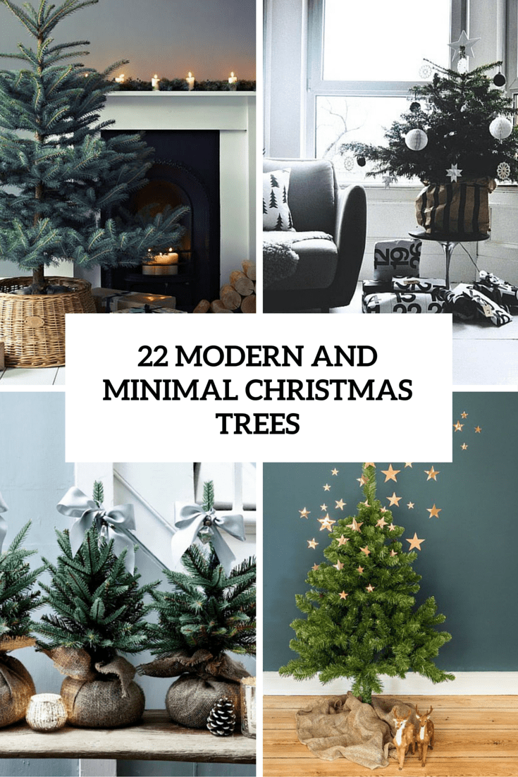 22 minimalist and modern christmas tree d cor ideas digsdigs for Modern christmas decor