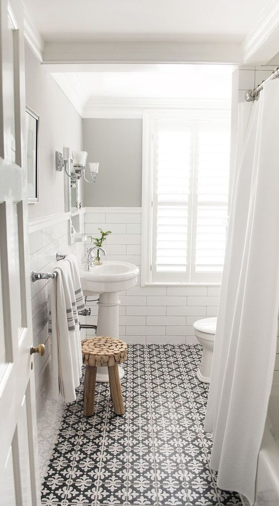 50 Cool Bathroom Floor Tiles Ideas You