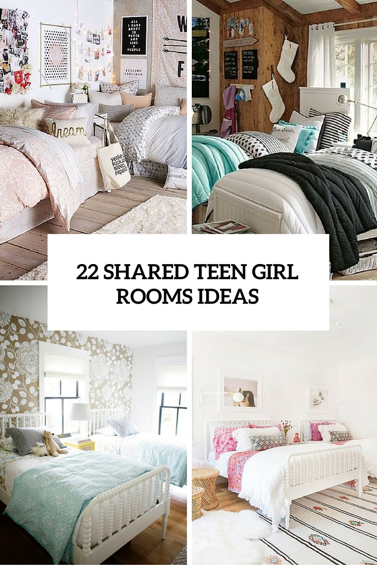 22 chic and inviting shared teen girl rooms ideas digsdigs for Bedroom ideas for girls sharing a room