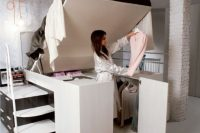 22 space-saving bed with a closet under it