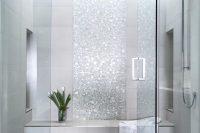 22 sparkling silver shower tiles