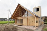 22 traditional Japanese house with a gable roof and interesting framing