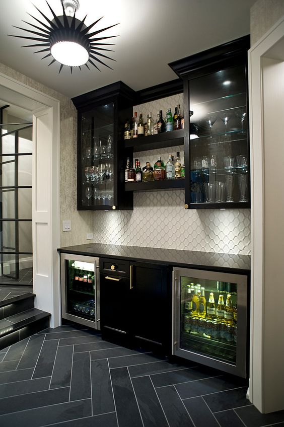27 Stylish Basement Bar Dcor Ideas DigsDigs