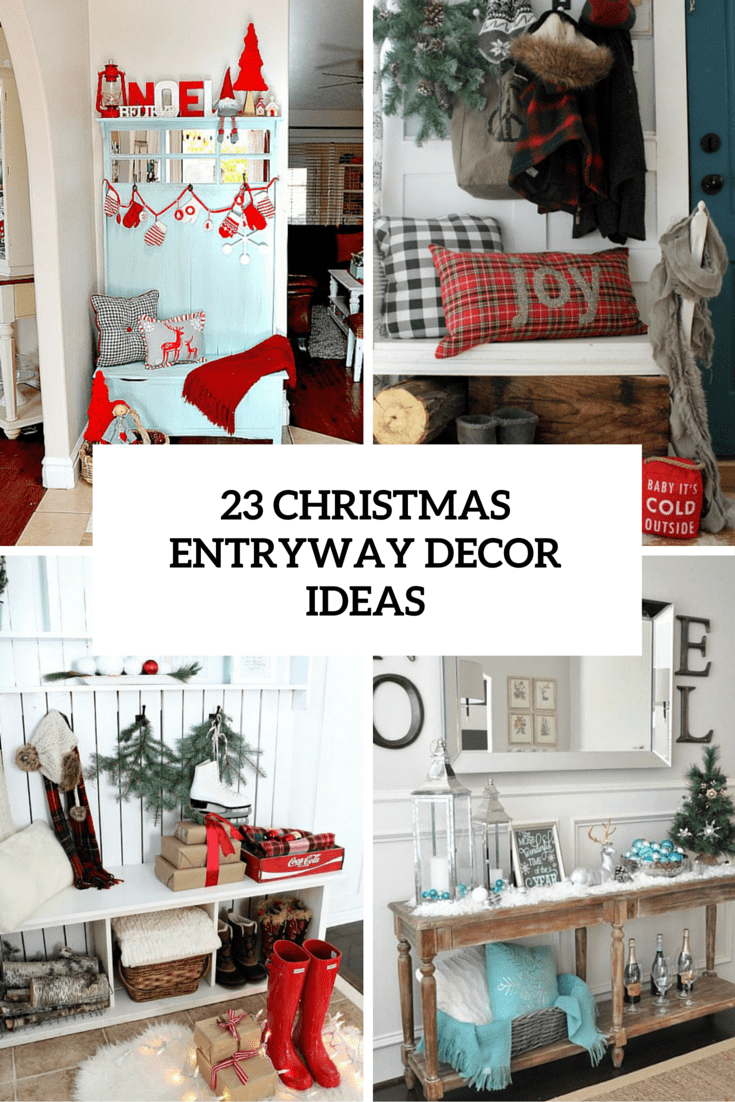 Christmas Entryway Decor Ideas Cover