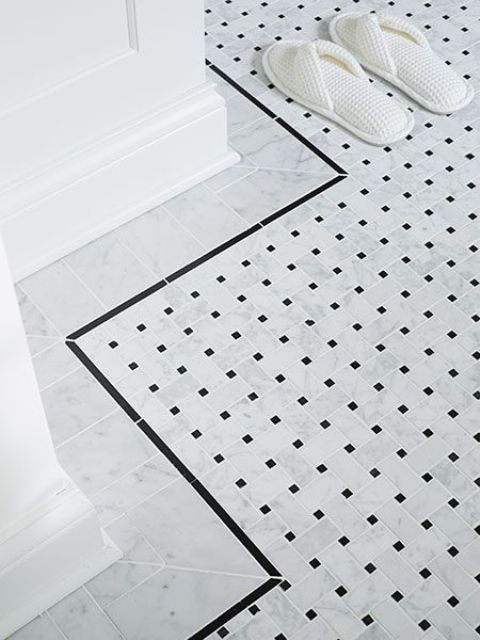 black and white border tiles for bathroom 29 ideas to use all 4 bahtroom border tile types digsdigs 25977