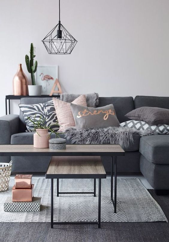 grey furniture won't make your living room smaller
