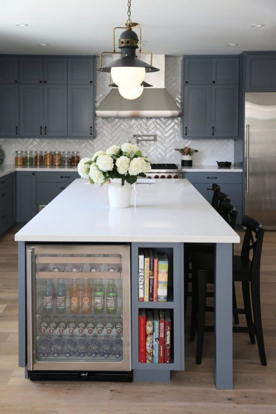 Kitchen Island With A Drink Cooler