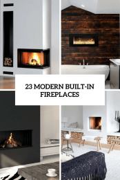 23 Modern Built In Fireplaces Cover