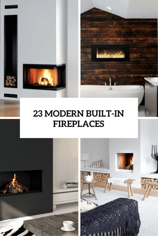Modern Built In Fireplaces Cover