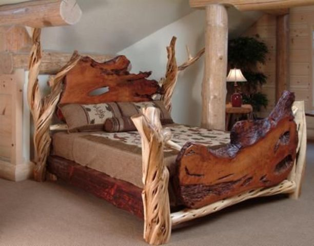 rough wood bed