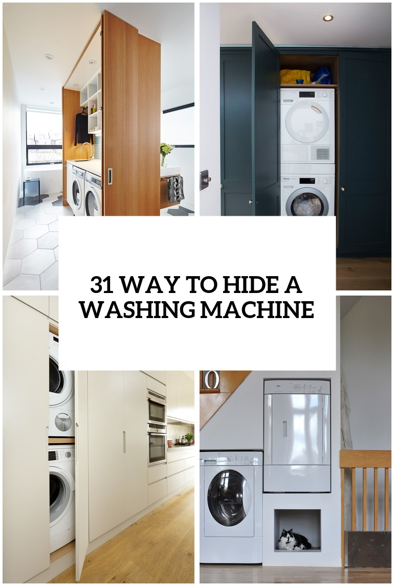 23 ways to hide a washing machine cover