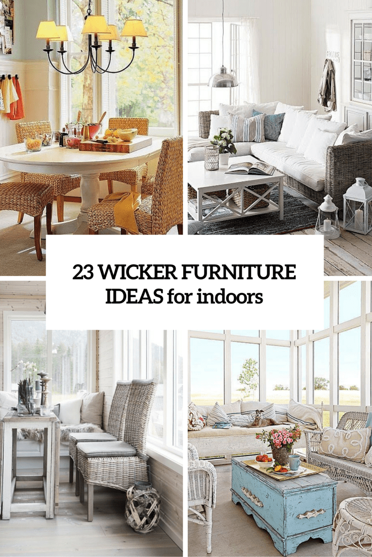 Wicker Furniture In The Interiors: 23 Cool Ideas