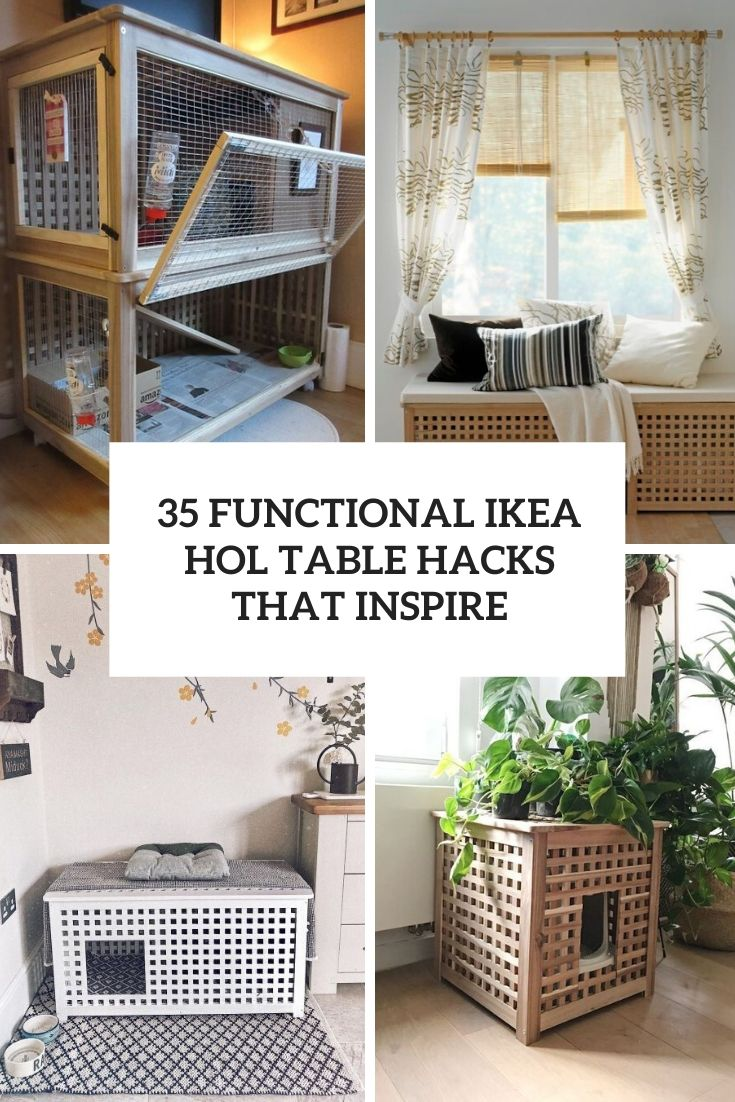 35 Functional Ways To Rock IKEA Hol Table In Your Decor