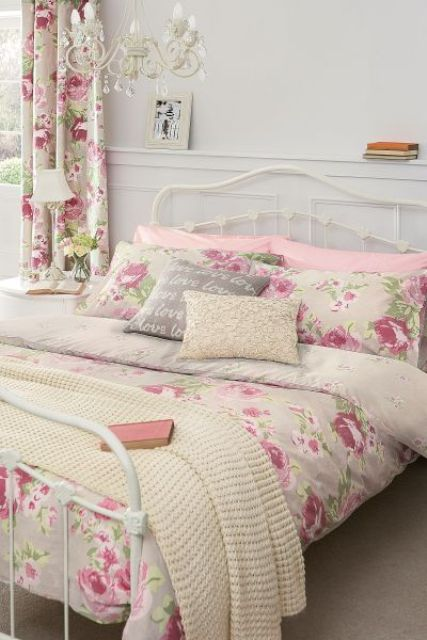 girlish floral bedding