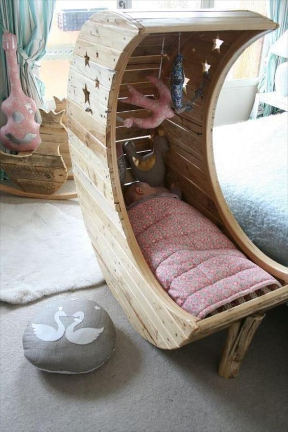 a moon-inspired cradle for a little angle