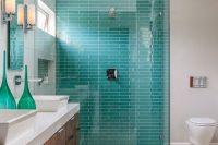 24 turquoise mosaic tiles