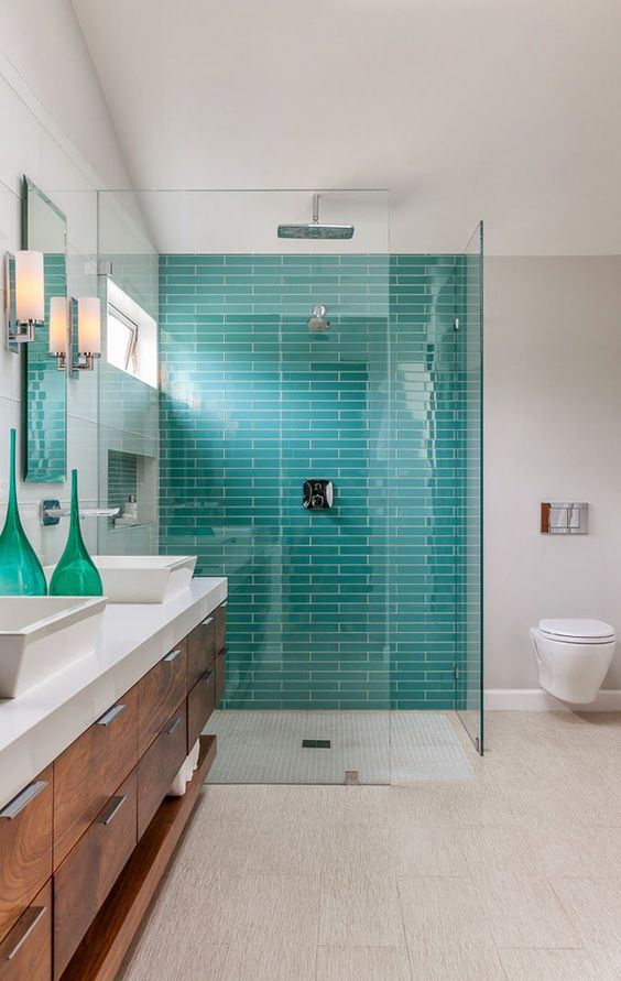 Picture of turquoise mosaic tiles for Aqua mosaic bathroom accessories