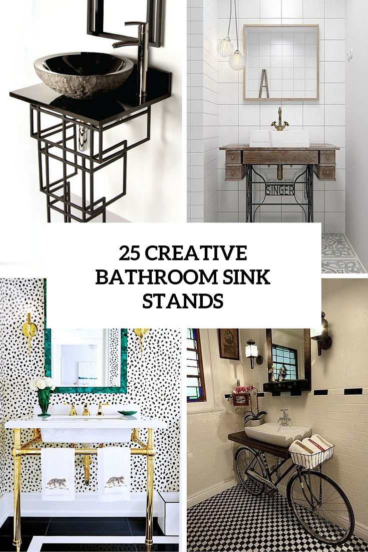 25 Cool And Creative Sink Stands For Any Bathroom