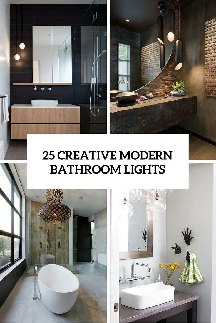 25 creative modern bathroom lights ideas you ll love for Creative bathroom ideas