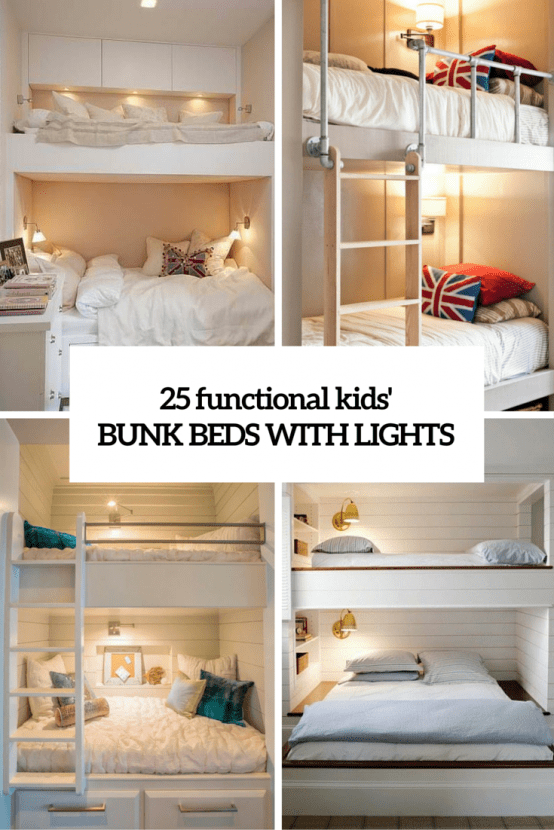 Amazing  Functional And Stylish Kids u Bunk Beds With Lights