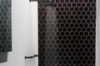 25 unique round dark tiles