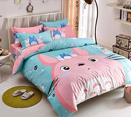 Simple anime inspired Totoro bedding