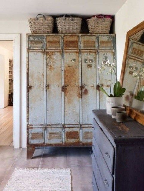 metal shabby chic lockers
