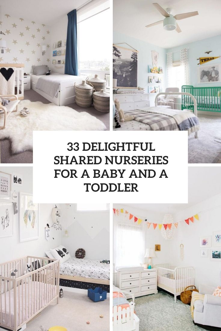33 Delightful Shared Nurseries For A Baby And A Toddler