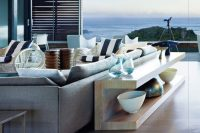 26 stylish console behind the sofa