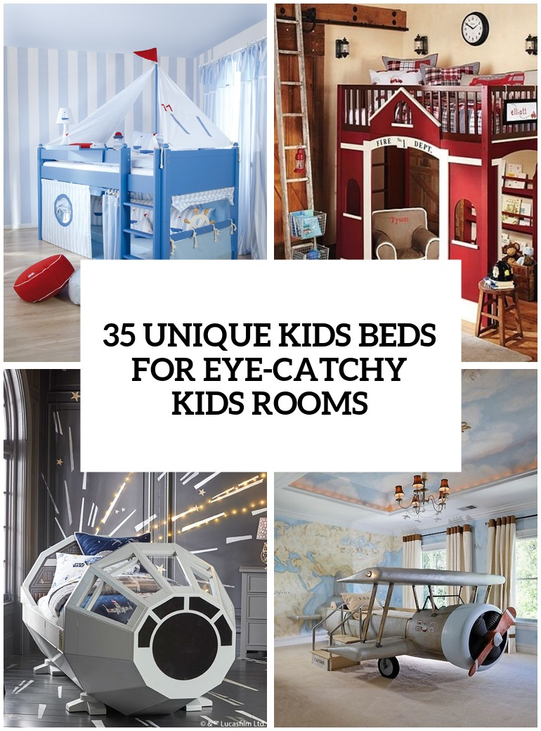 35 Really Unique Kids Beds For Eye-Catchy Kids Rooms