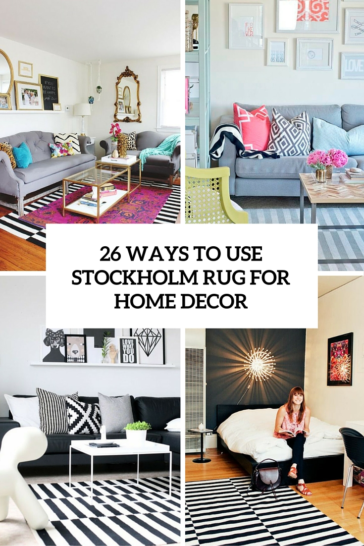 26 Ways To Use IKEA Stockholm Rug For Home Decor