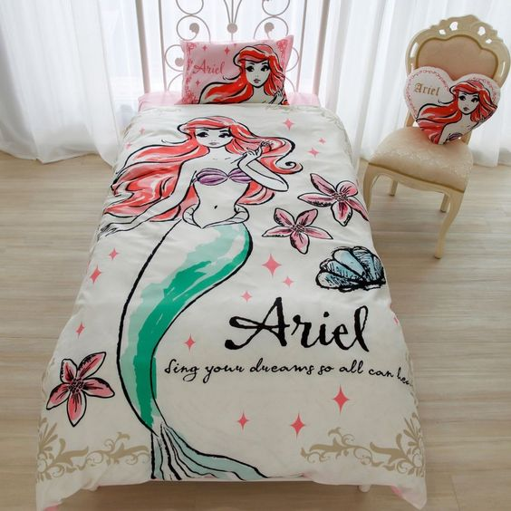 Trend Ariel the mermaid print bedding