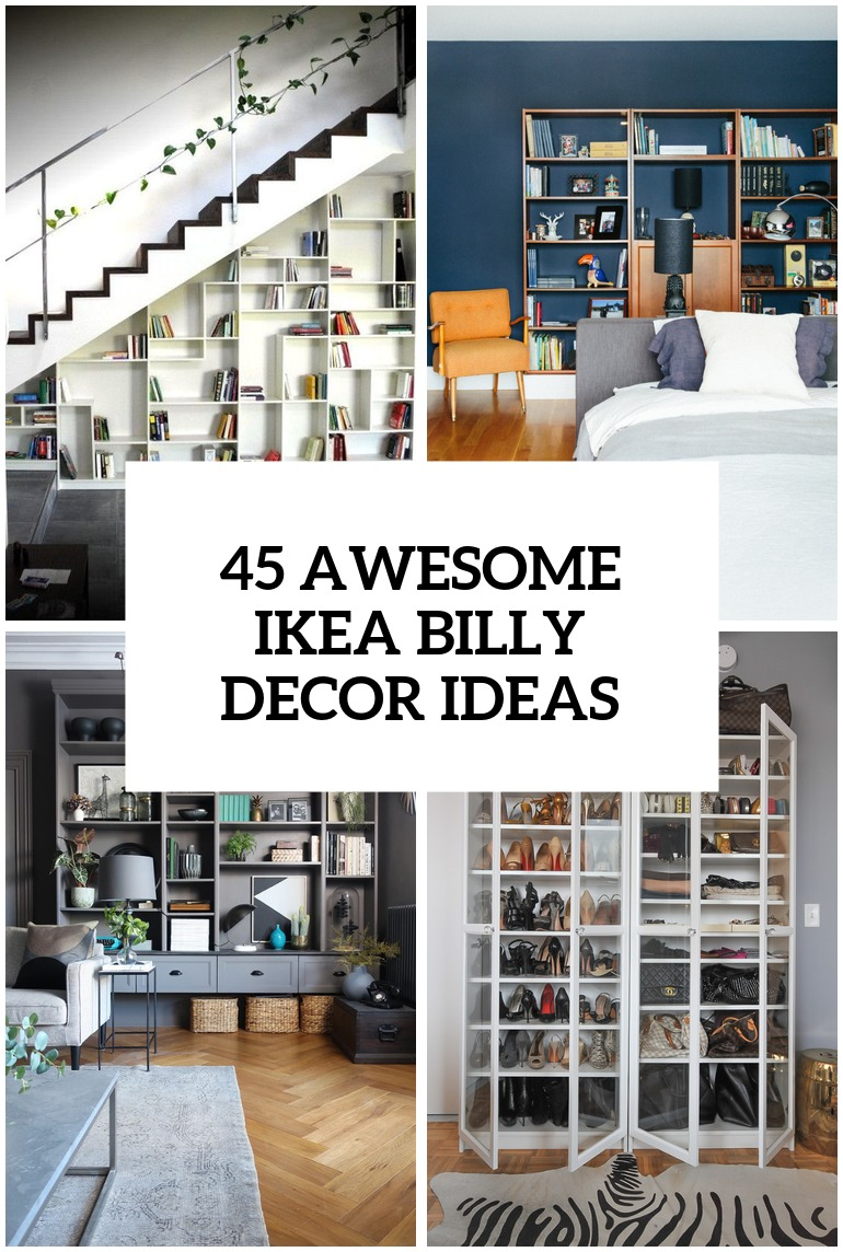 37 awesome ikea billy bookcases ideas for your home - Ikea Bookshelves Ideas