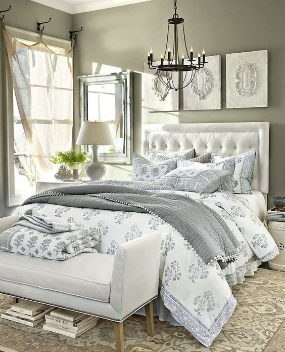 Fancy neutral bedding