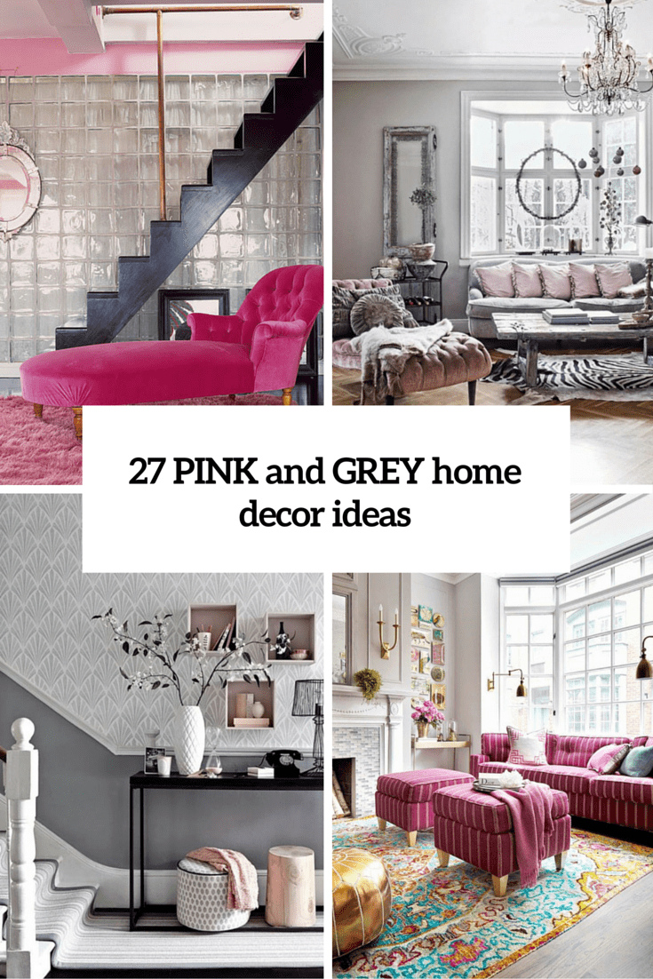 Pink And Grey Home Decor Cover