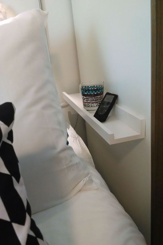Ribba ledge tiny bedside table