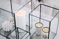 28 black and white accessories display