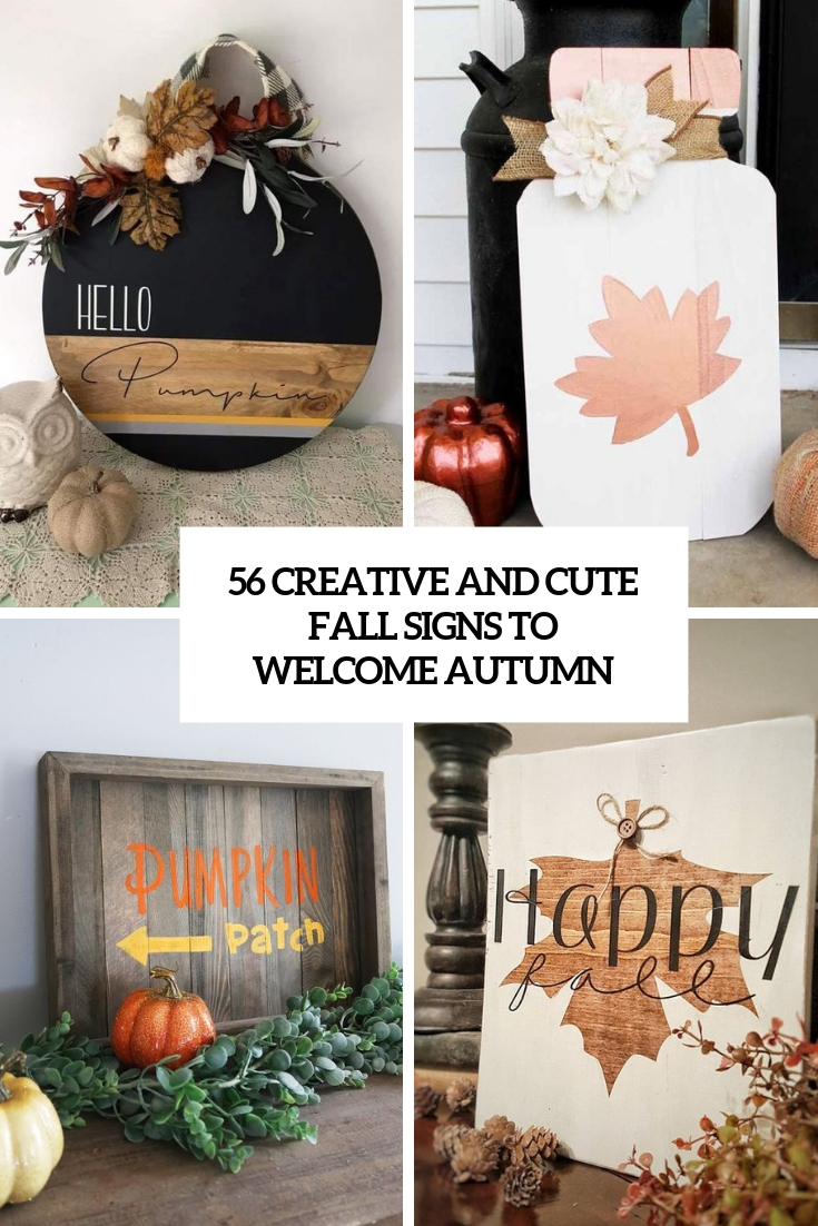 56 Creative And Cute Fall Signs To Welcome Autumn