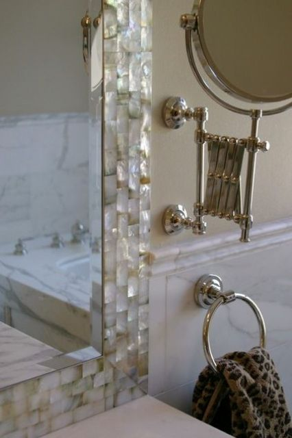 Mother Of Pearl Border Mirror Tiles