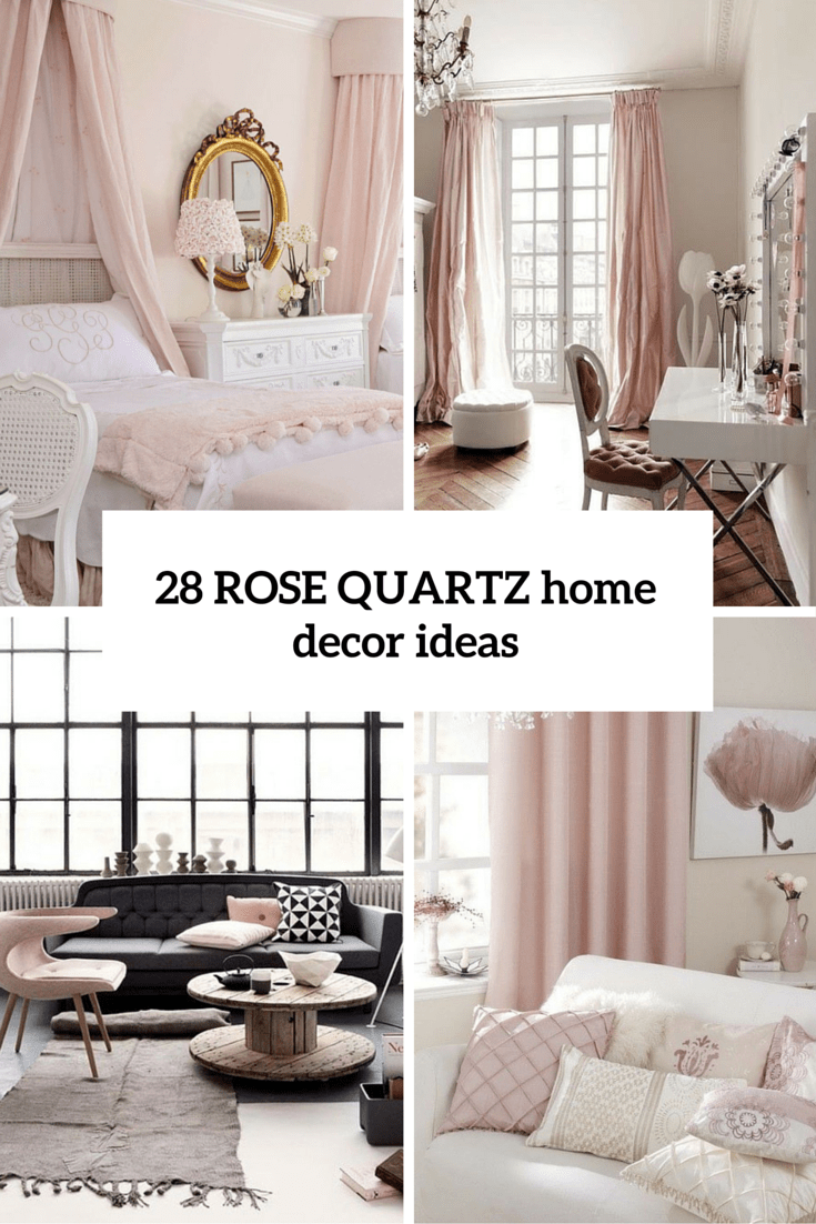 Picture of rose quartz home decor ideas cover for Home furnishing designs