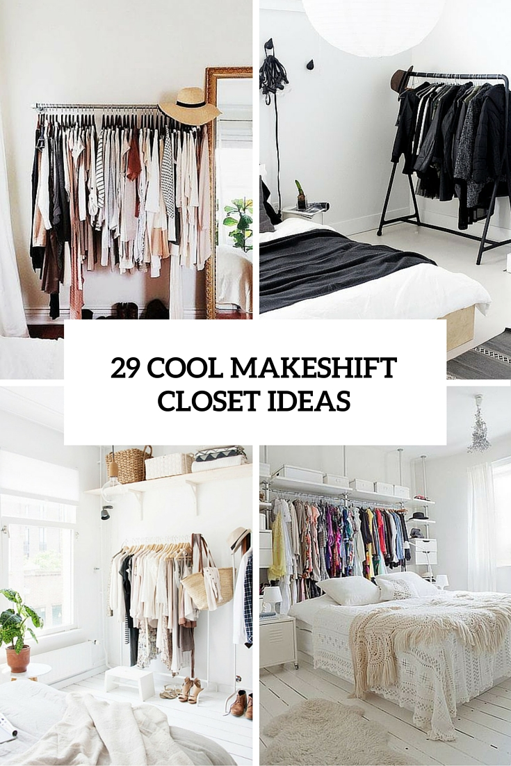 29 cool makeshift closet ideas cover