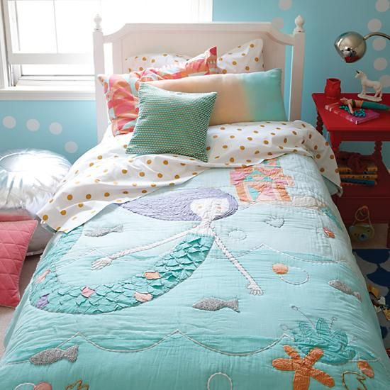 Inspirational little mermaid bedding